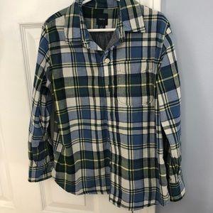 Three button down shirts.